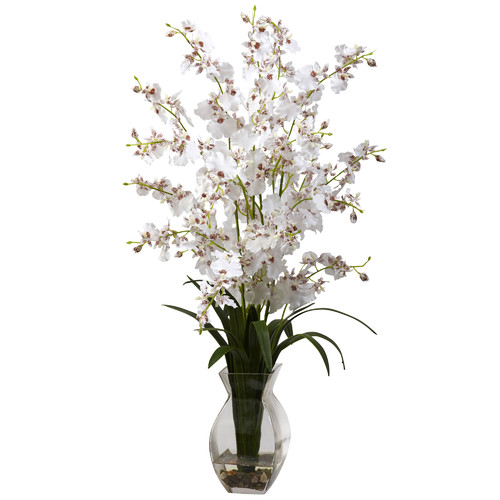Nearly Natural Dancing Lady Orchid in Vase