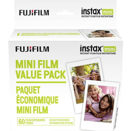 Fujifilm Instax Mini Instant Film, 60 Exposures (Classic Polaroid Camera Film)