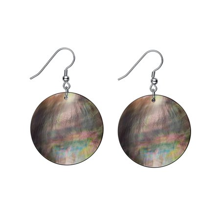 Large Round Mother of Pearl Dangle Drop Earrings for Women Girls