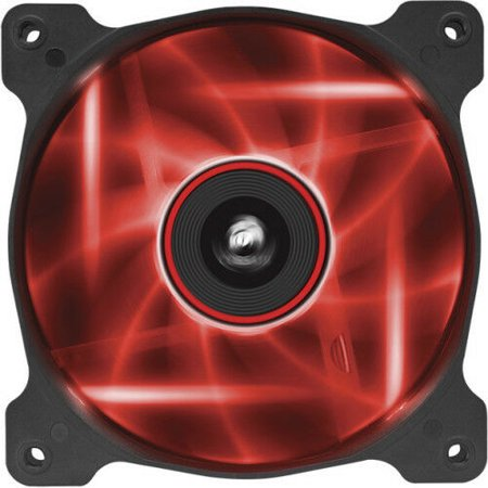 Corsair Air Series AF120 LED Red Quiet Edition High Airflow 120mm Fan - Twin (Corsair Air Series Af120 Led Red Quiet Edition)