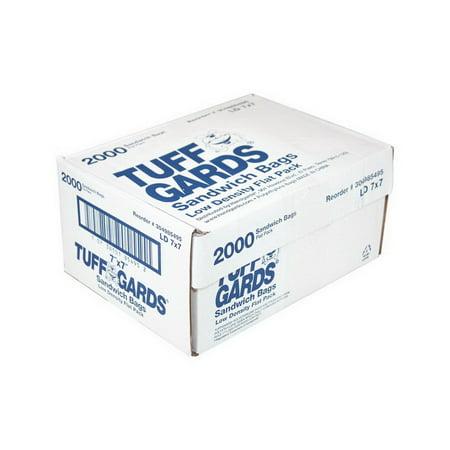 Low Density Plastic Bags ((Price/Case)Handgards 304985495 Bag Sandwich Low Density Flat 7X7 1-2000 Each )