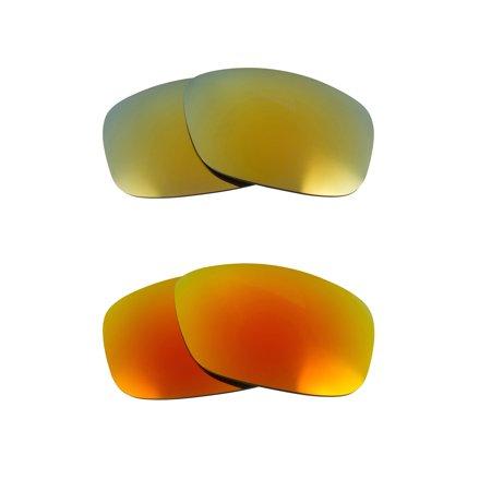 4035b2ac77 Best SEEK Polarized Replacement Lenses for Oakley SIDEWAYS Yellow Green  Mirror
