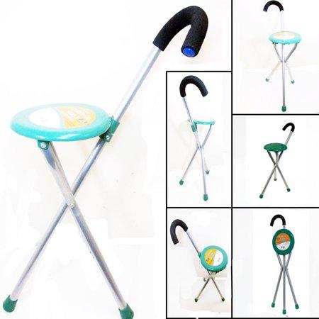 Travel Folding Cane Seat Walking Medical Stick Portable
