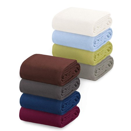 Crover All Season Thermal Waffle Cotton Twin Blanket Deep - Season Blanket