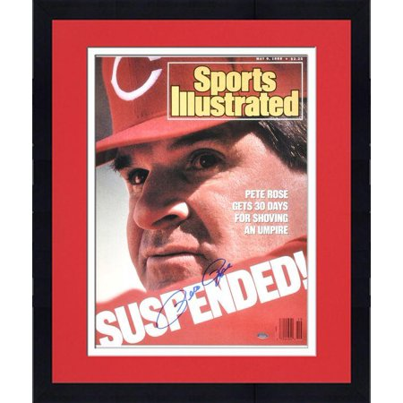 "Framed Pete Rose Cincinnati Reds 1988 Sports Illustrated Cover Autographed 16"" x 20"" Photograph Fanatics Authentic Certified by"
