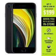 Straight Talk iPhone SE 2nd Generation, 64GB Black - Prepaid Smartphone
