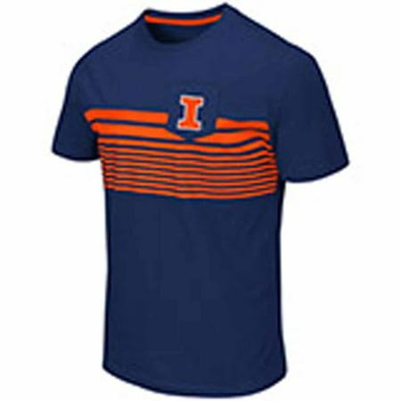 Illinois Fighting Illini Adult NCAA Futuna Short Sleeve Pocket T-Shirt  - Navy