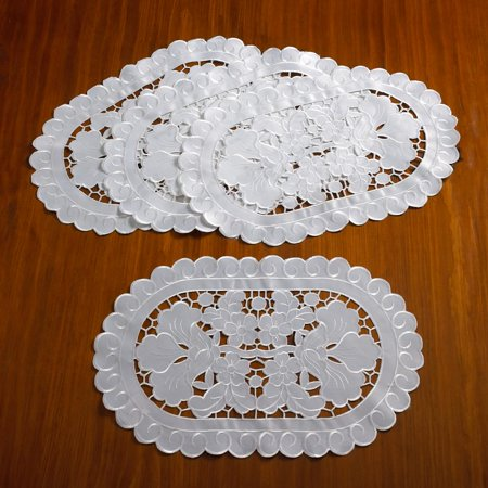 Sapphire Embroidered Cutwork Lace Design Table runner - Cutwork Lace