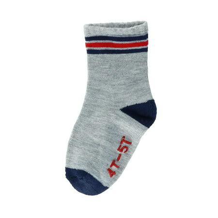Hanes Infant Boys 6-Pack Crew Socks, 6-12M, Assorted - image 4 of 7