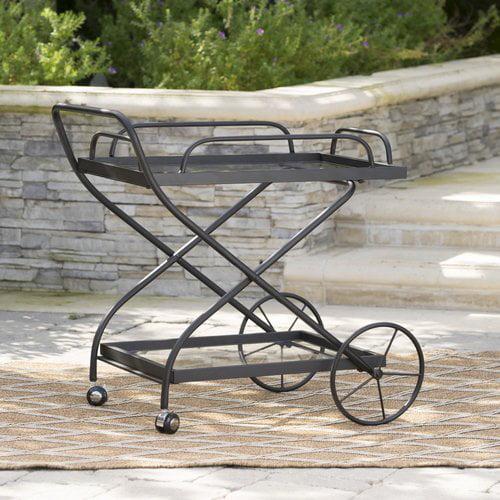 17 Stories Polak Outdoor Bar Serving Cart by