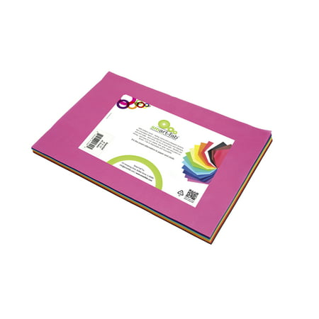 Smart-Fab Fabric Weatherproof Cut Sheet, 9 X 12 in, Assorted Color, Pack of 45
