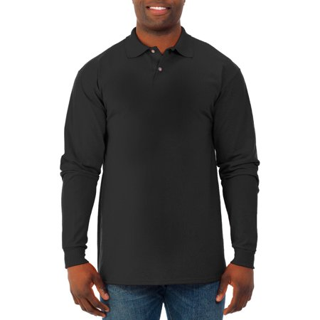 Jerzees Big Mens Spot Shield Long Sleeve Polo Sport Shirt