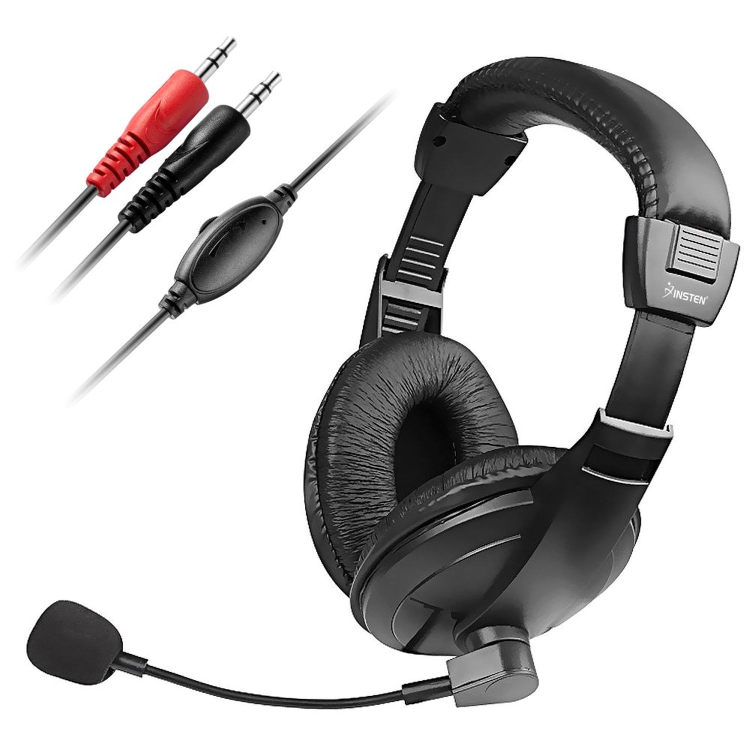 Insten VOIP / SKYPE Hands-free Headset Headphone with Microphone, Black