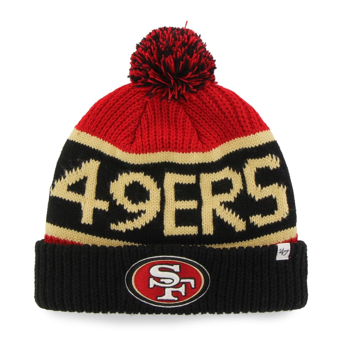 San Francisco 49ers 47 Brand NFL Calgary Cuffed Knit Hat Black by 47 Brand