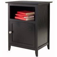 Winsome Wood Henry Nightstand, Accent Table, Black Finish