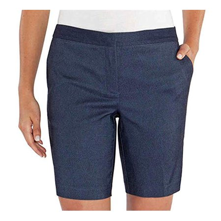 - Mario Serrani Comfort Stretch Fabric Shorts with Tummy Control (Denim, 16)