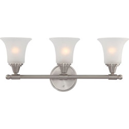 Replacement for 60/4143 SURREY 3 LIGHT VANITY FIXTURE WITH FROSTED GLASS BRUSHED NICKEL CONTEMPORARY replacement light bulb