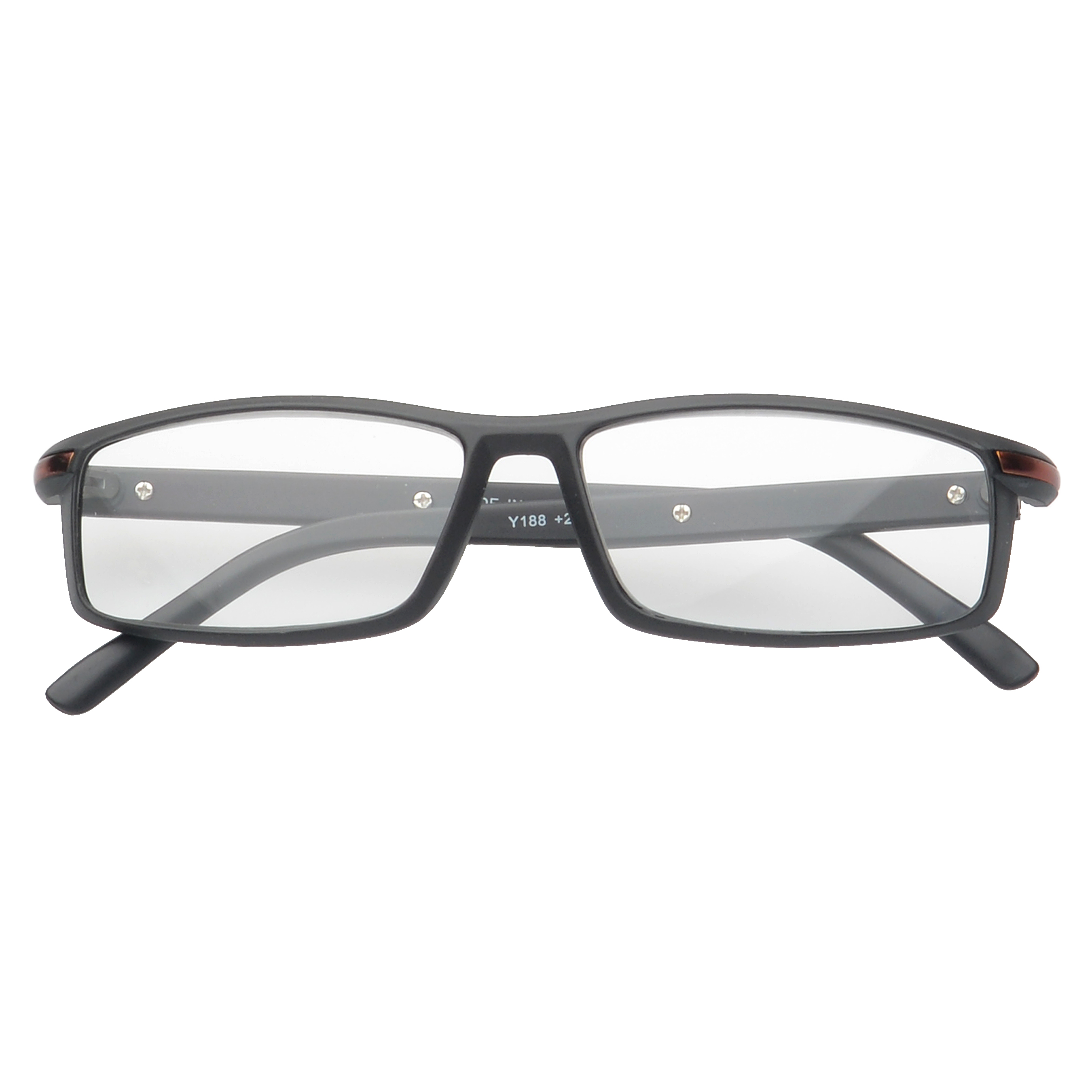 f2d5df9069c MLC Eyewear  Saxton  Rectangle Reading Glasses +1.25 in Black ...