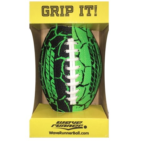 Green Collegiate Football (Wave Runner Grip It Football, Green)