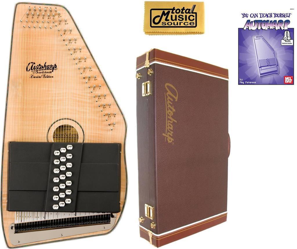 Oscar Schmidt 21 Chord Acoustic Electric Autoharp, Flame Maple Top, OS11021FNE W Hard... by Oscar Schmidt