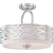 Nuvo Lighting  60/4629  Ceiling Fixtures  Harlow  Indoor Lighting  Semi-Flush  ;Polished Nickel