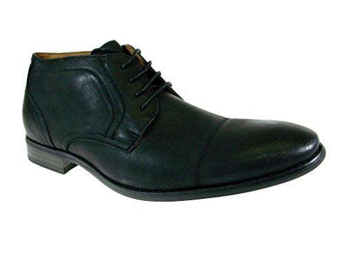Polar Fox Men's 806001-Black Ankle High Cap Toe Lace Up Boots