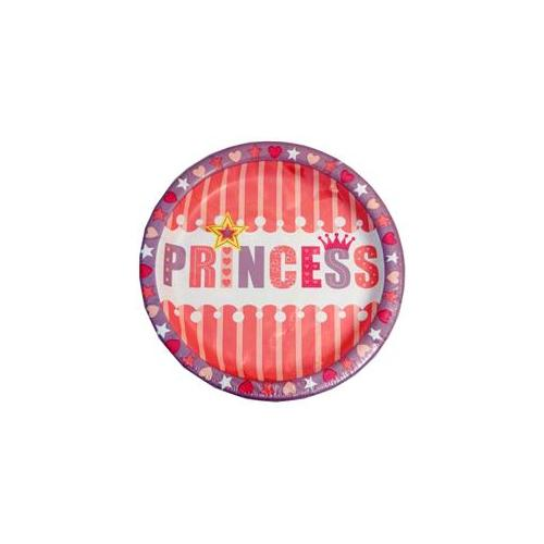Bulk Buys Princess 8. 75 Inch 18 Count Paper Party Plates - Case of 24