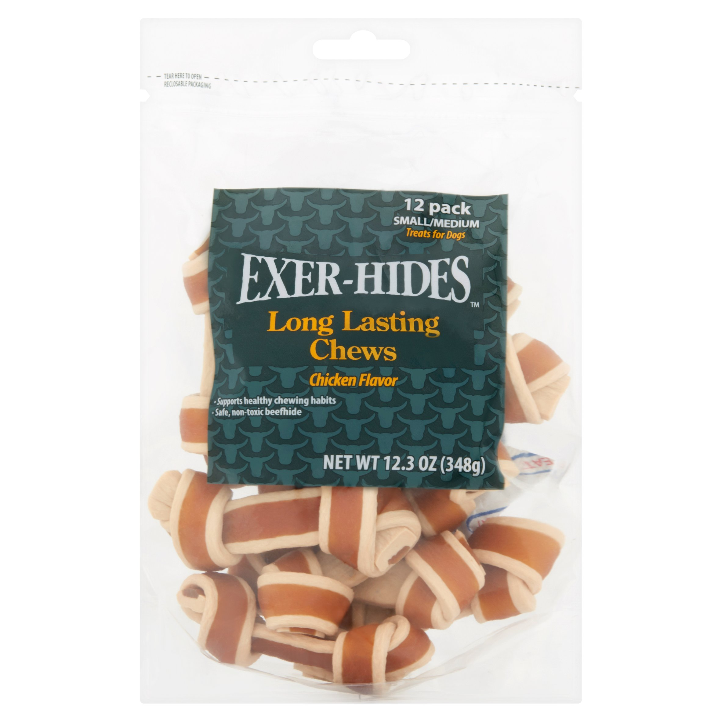 Exer-Hides Long Lasting Chews, Chicken Flavor, 12.3 oz, 12 Count