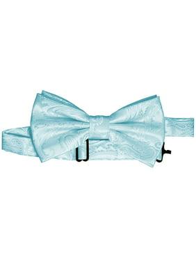 Paisley Pre-Tied Bow-Tie - Aqua