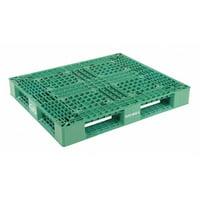 VESTIL PLP2-4840-GREEN Green Plastic Pallet