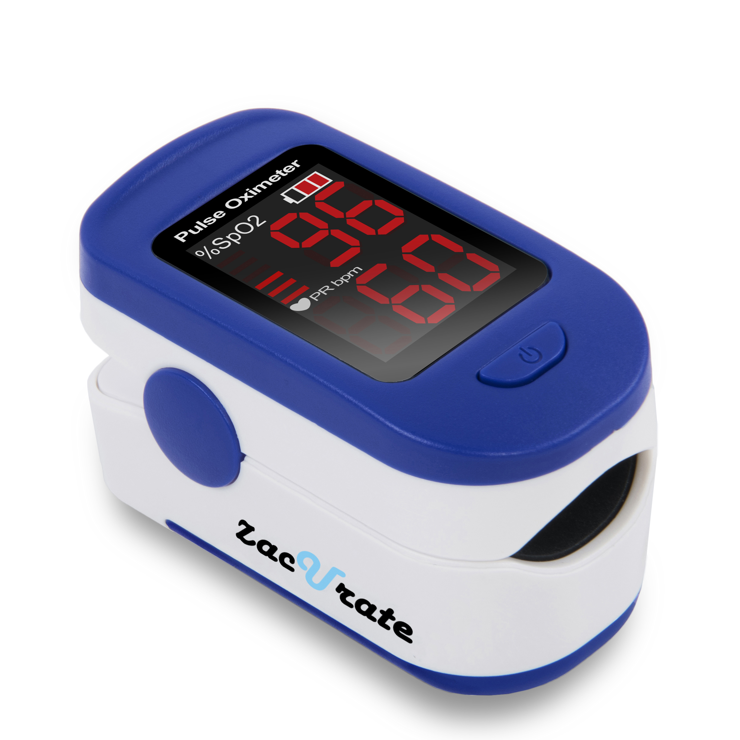 Zacurate 500BL Fingertip Pulse Oximeter Blood Oxygen Saturation Monitor with batteries and lanyard included (Chromatic Blue)