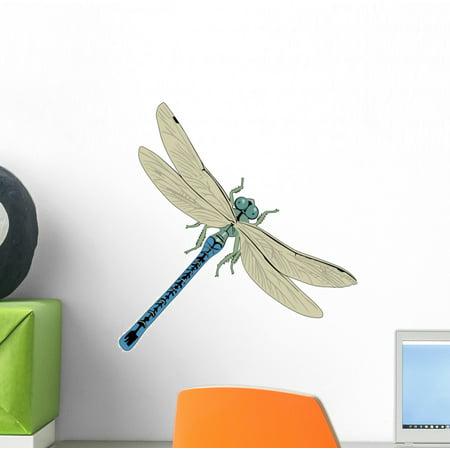 Wallmonkeys Blue Dragonfly Peel and Stick Wall Decals WM192073 (12 in W x 10 in H)