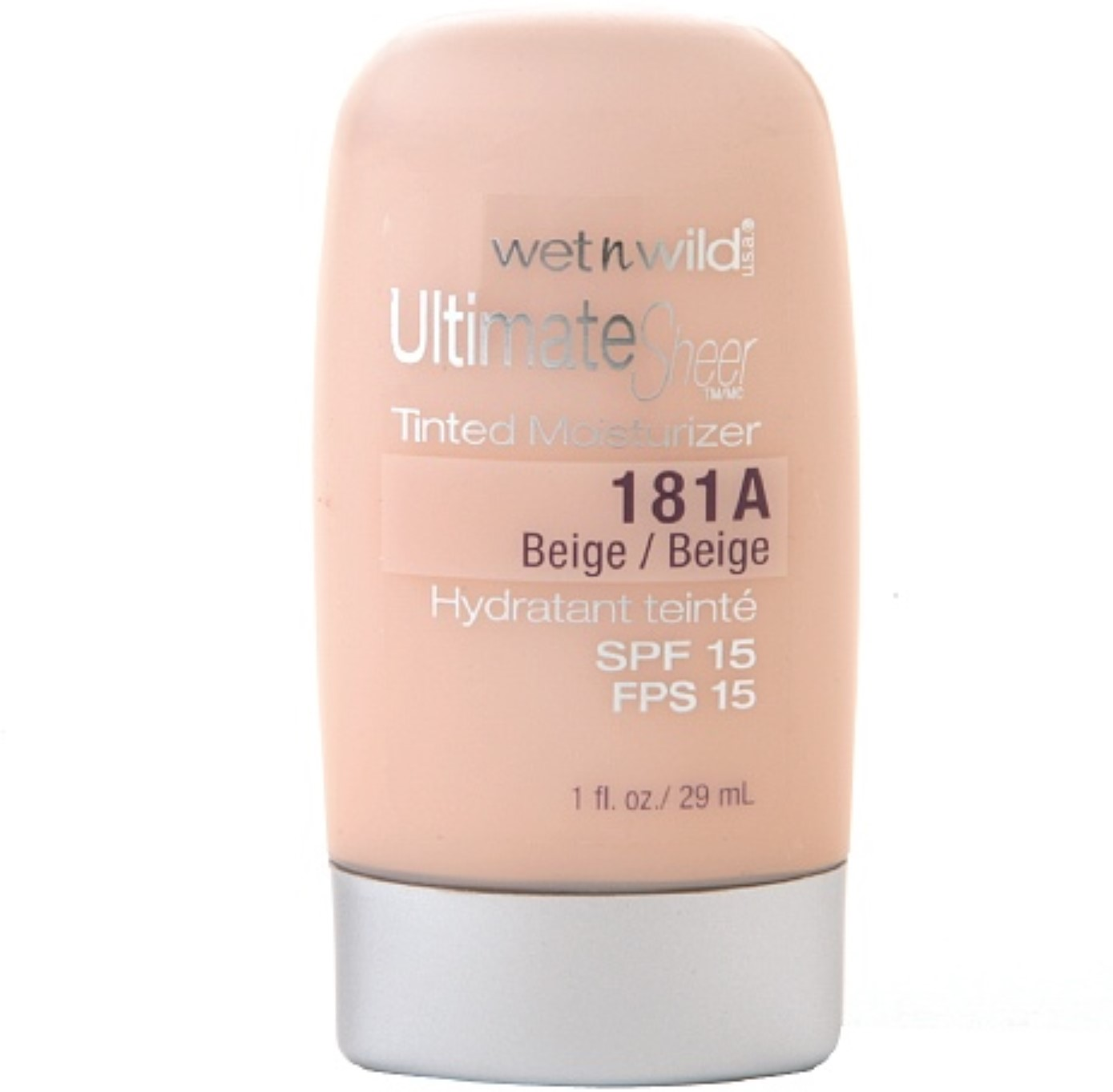 Wet n Wild Ultimate Sheer Tinted Moisturizer, SPF 15, 181A Beige