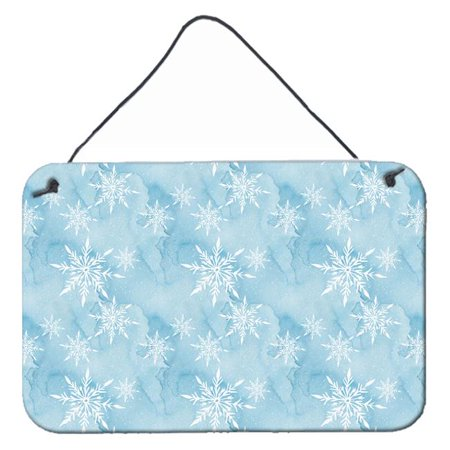 Carolines Treasures BB7552DS812 Watercolor Snowflake on Light Blue Wall or Door Hanging Prints, 8 x 12 in. - image 1 of 1