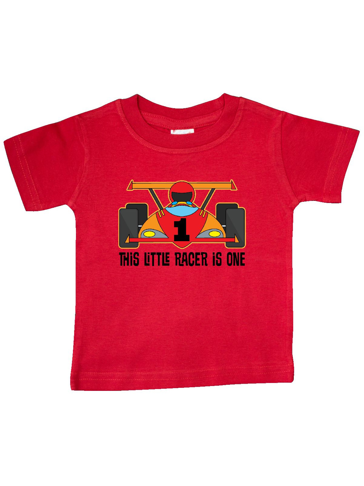 inktastic 1st Birthday Racing Car Boys Baby T-Shirt