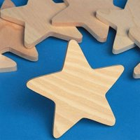 Wooden Stars, Pack of 25
