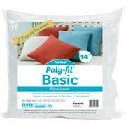 "Fairfield Poly-Fil Basic Pillow Insert 2/Pkg-14""X14"" Fob: Mi"