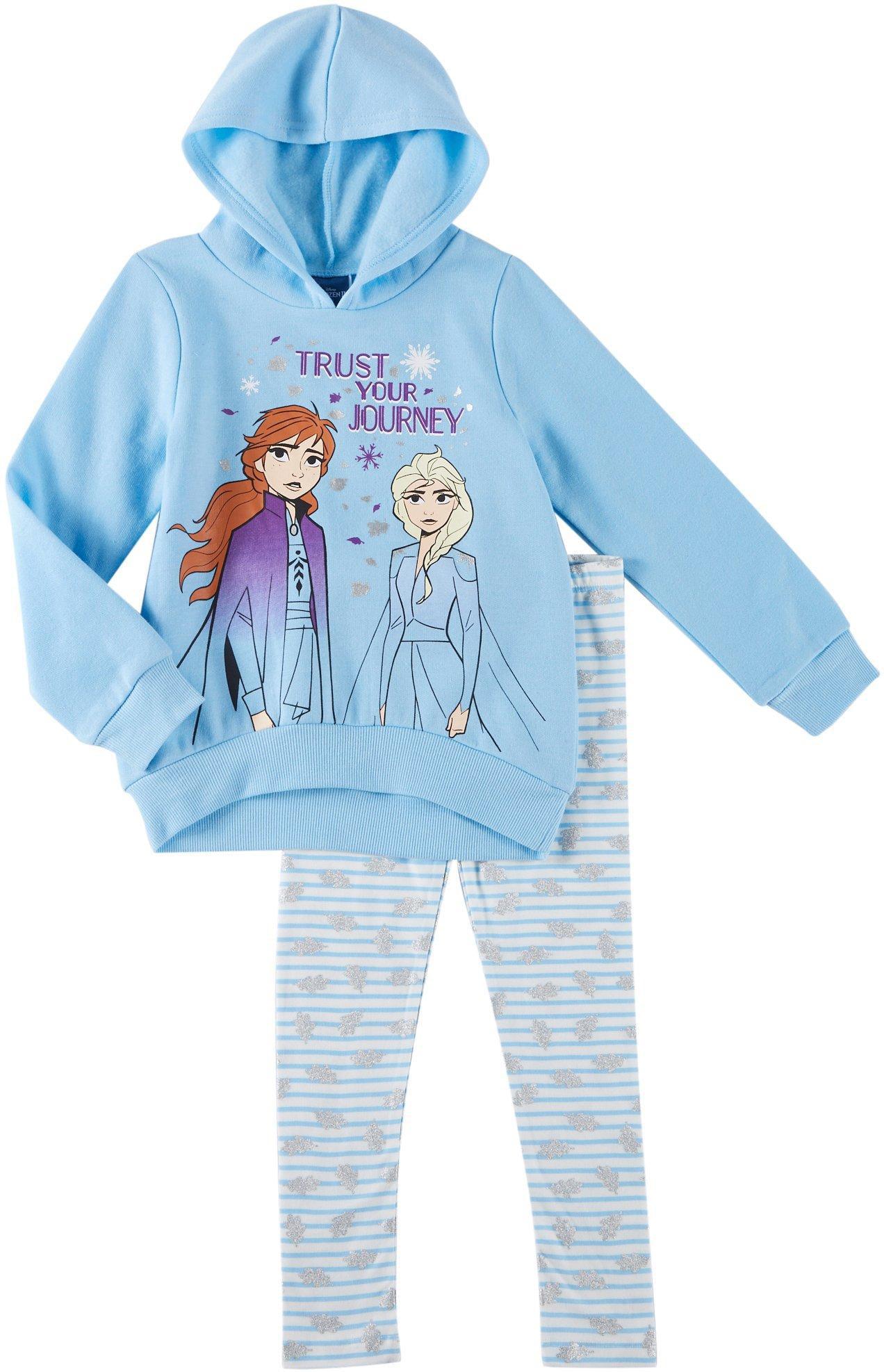 Frozen 2 Trust Your Journey  2-pc Hoodie /& Leggings Fleece Set Toddlers