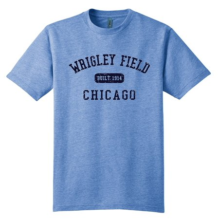 Wrigley Field Chicago T-Shirt Tri Blend Lt. Blue 9729 Small