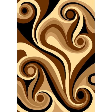 BELLA Modern Contemporary 5x8 5x7 Rug Abstract Area Rug 40128 Chocolate Brown ()