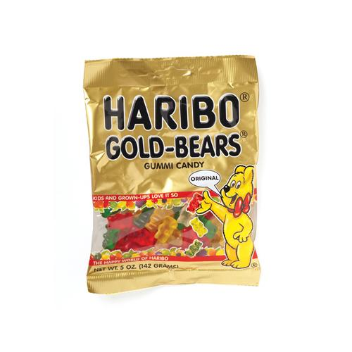 Haribo Gold Gummi Bears Bag 5 oz.: 12 Count