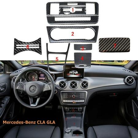 Xotic Tech 1 Set Full Kit Real Carbon Fiber Interior Trim Stickers For Mercedes Benz CLA GLA 2013-2017