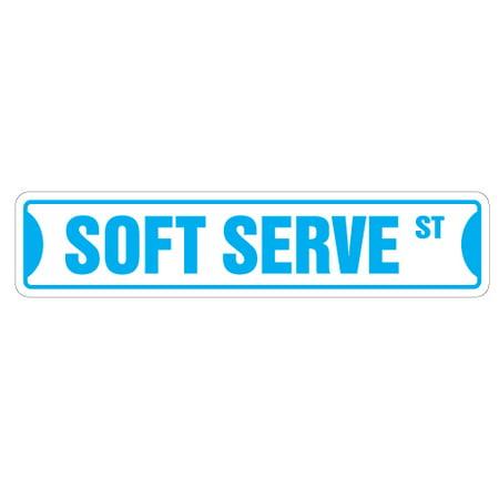 SOFT SERVE Aluminum Street Sign ice cream shop lover cone | Indoor/Outdoor | 18