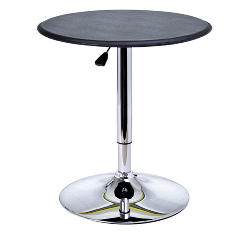 HomCom Modern Adjustable 360 Swivel Vinyl Covered Pub Style Pub Table Black by