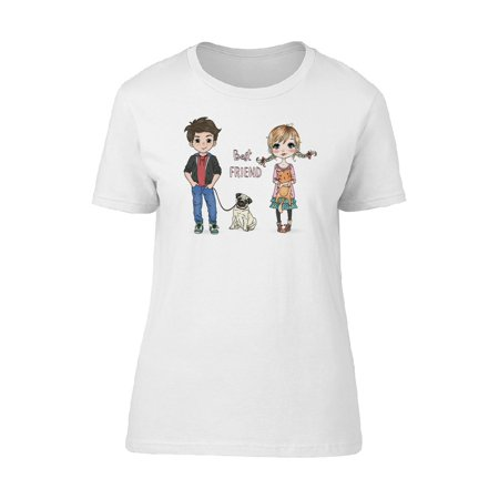 Best Friend Girl, Boy & Dog Tee Women's -Image by (Best Dog Breeds For Cold Weather)