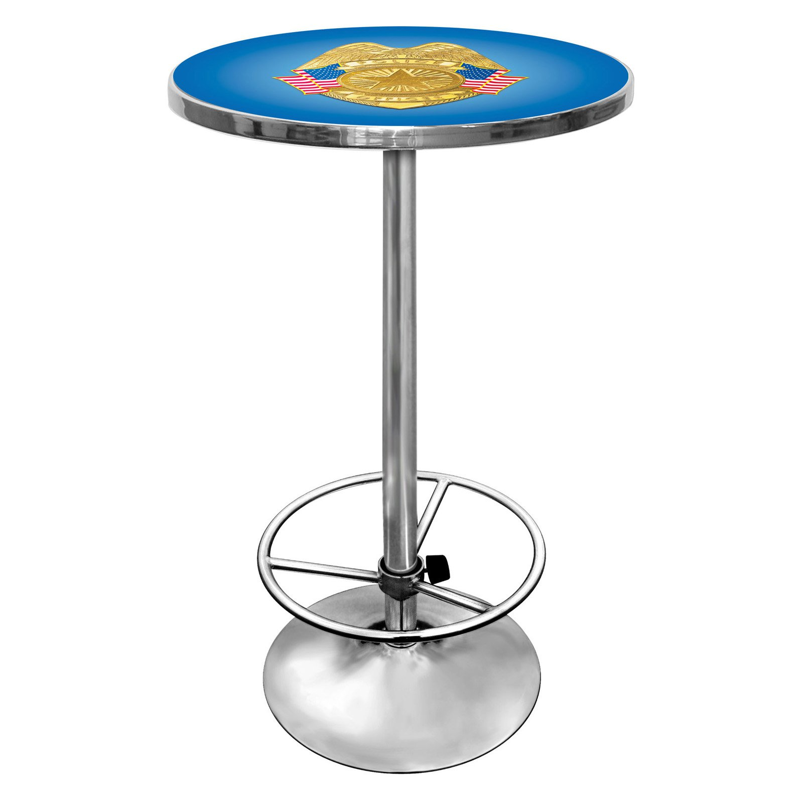 "Trademark Police Officer 42"" Pub Table, Chrome"