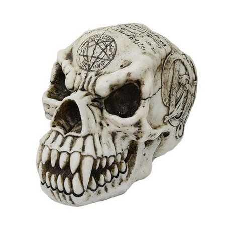 7.25 Inch Werewolf Engraved Skeleton Skull Resin Statue Figurine](Werewolf Skeleton)