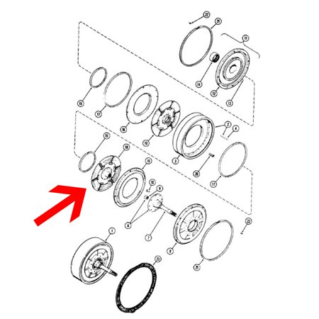 A14822 Clutch Disc Kit Made for Case-IH International