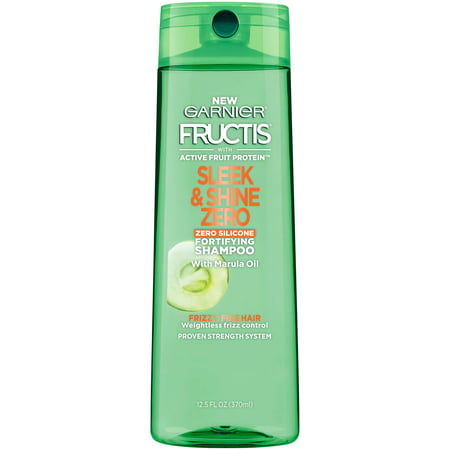 (2 Pack) Garnier Fructis Sleek & Shine Zero Shampoo 12.5 FL OZ