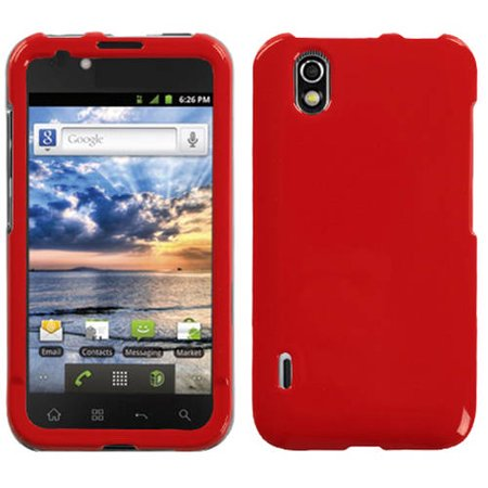 LG LS855 Marquee MyBat Protector Case, Solid Flaming Red ()